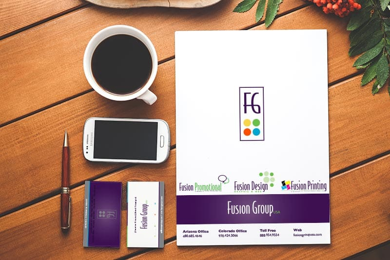 business stationery, commercial printing, branding, marketing, logo design, business cards, direct mail, marketing collateral, Fusion Group USA, Grand Junction, Colorado, Phoenix, Arizona