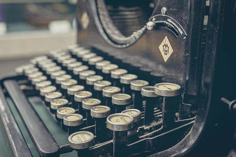 Old fashioned typewriter typography