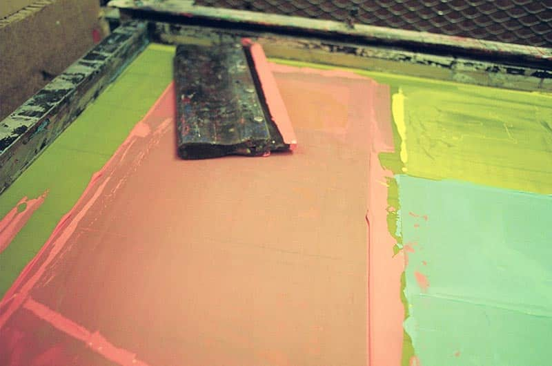 picture of screen printing