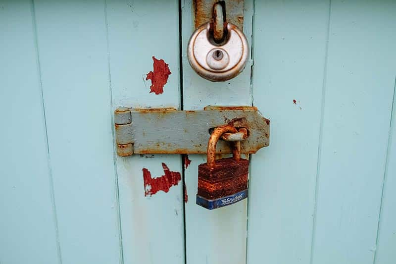 picture of lock on door