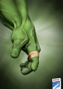 Hulk bandage ad