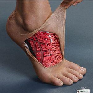 running shoe ad